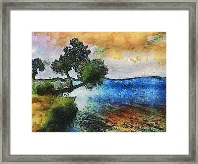 Time Well Spent - Medina Lake Framed Print
