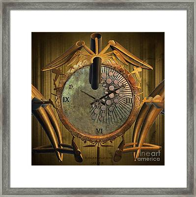 Time Will Move Forward Framed Print by Melissa Messick
