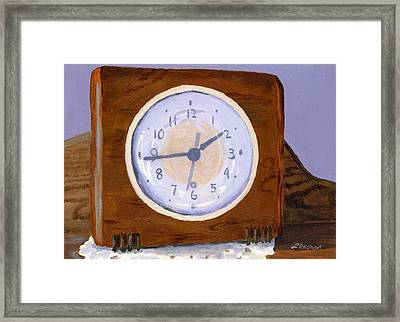 Framed Print featuring the painting Time Will Tell by Lynne Reichhart