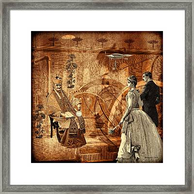 Timekeeper Steampunk Framed Print by Bellesouth Studio