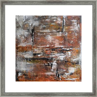 Framed Print featuring the painting Timeless - Abstract Painting by Ismeta Gruenwald