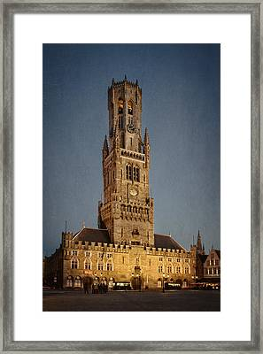 Timeless Bruges Belfort Framed Print by Joan Carroll