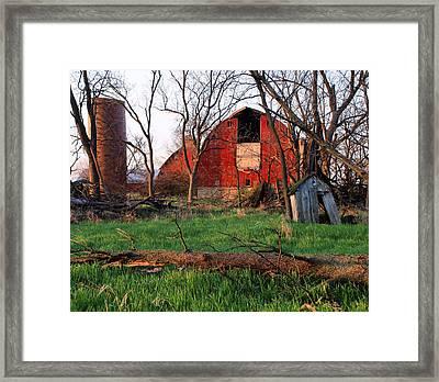 Timeless-color-barns Framed Print by Tom Druin