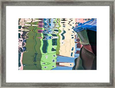 Timeless Colors Of Burano Framed Print by Joan Herwig