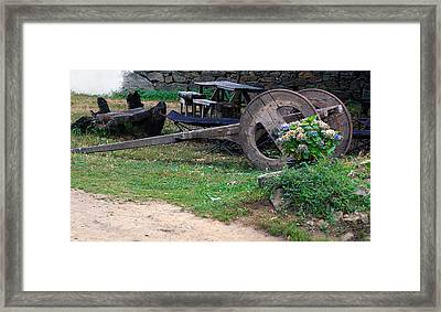 Cart Wheels Framed Print by Dave Byrne
