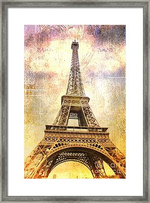 Timeless  Eiffel Tower Framed Print by Carol Groenen