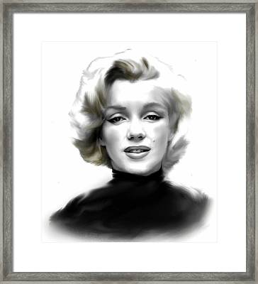 Timeless Marilyn Monroe  Framed Print by Iconic Images Art Gallery David Pucciarelli