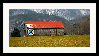 Painted Barn Quilt Framed Prints