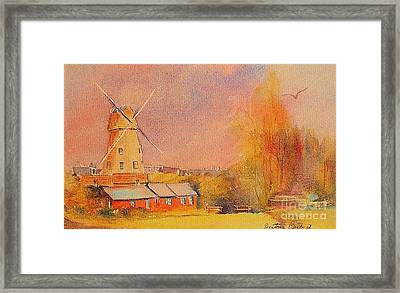 Framed Print featuring the painting Timeless Rye by Beatrice Cloake