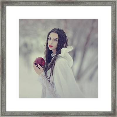 timeless story of Snow white 1 Framed Print by Anka Zhuravleva