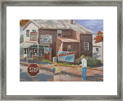 Framed Print featuring the painting Timeless by Tony Caviston