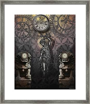 Timepiece Framed Print by Larry Butterworth