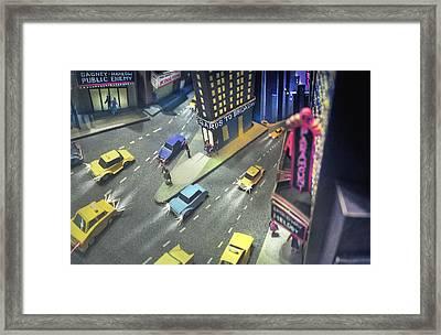 Times Sq. At Night Framed Print
