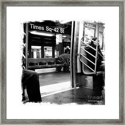 Times Square - 42nd St Framed Print by James Aiken