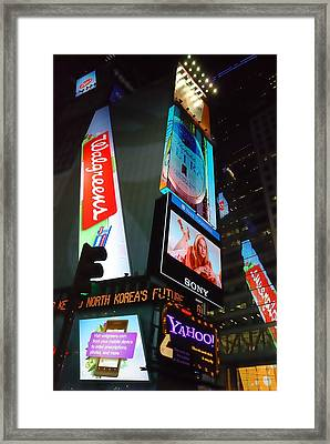 Times Square Ads Framed Print by Jim Hughes