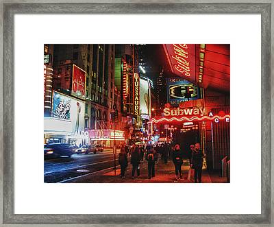 Times Square  Framed Print by Anthony  Myers