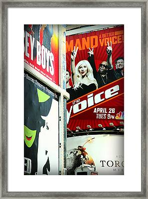 Times Square Billboards Framed Print by Valentino Visentini