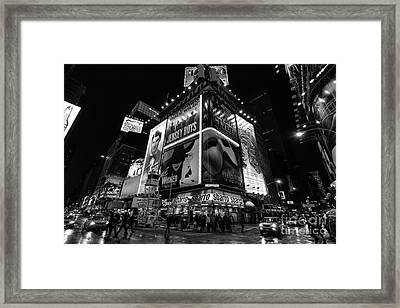 Times Square Black And White II Framed Print