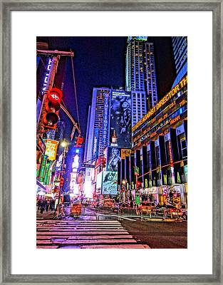 Times Square Framed Print by Dan Sproul