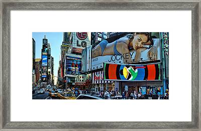 Times Square Energy Framed Print by New York