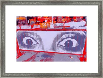Times Square Eyes Framed Print by Dan Sproul