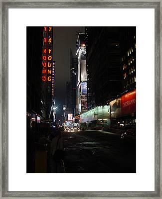 Times Square From 7th Ave Framed Print by Mieczyslaw Rudek Mietko