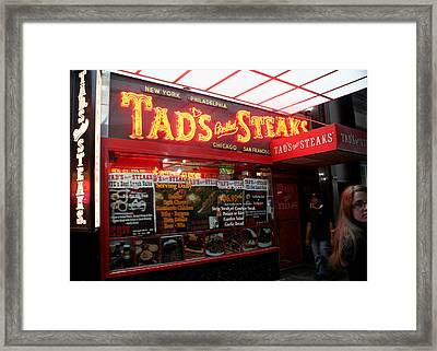 Times Square In New York City Framed Print