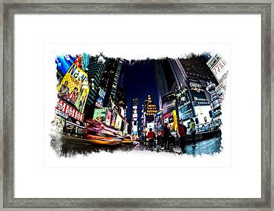 Framed Print featuring the photograph Times Square by James Howe