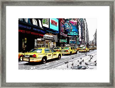 Times Square Framed Print by Kai Saarto