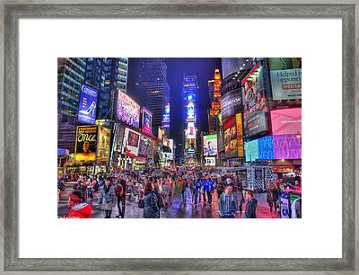 Times Square Framed Print by Kamila  Gornia