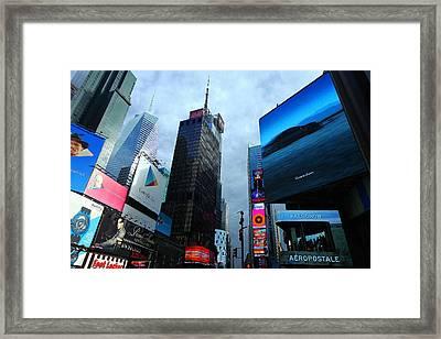 Times Square Framed Print
