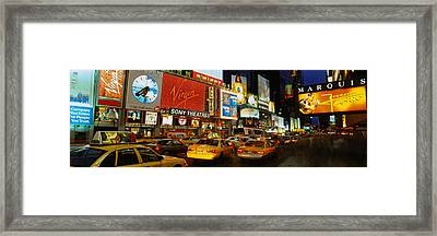 Times Square, Manhattan, Nyc, New York Framed Print