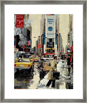 Times Square '95 Framed Print by Michael Swanson