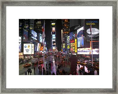 Times Square Framed Print by Mike McGlothlen