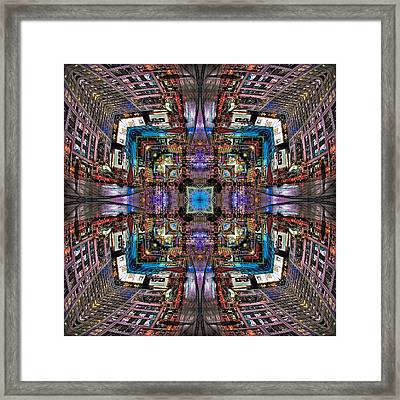 Times Square Mirrored Reflections Framed Print by Susan Candelario