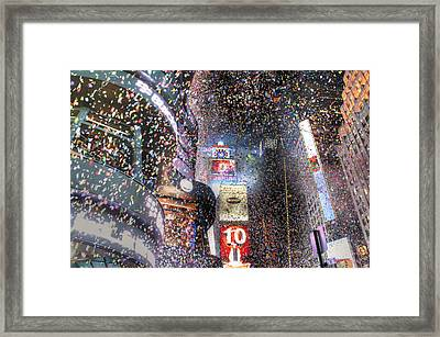 Times Square - New Years  Framed Print