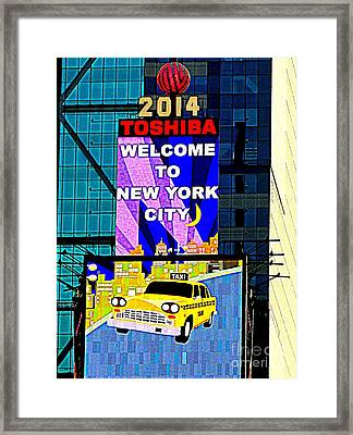 Times Square New Years Eve Ball Framed Print by Ed Weidman