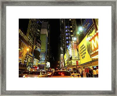 Times Square Photofresco Framed Print by Joseph Hedaya