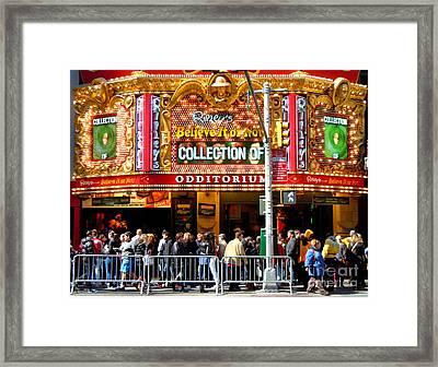 Times Square Ripleys Odditorium Framed Print
