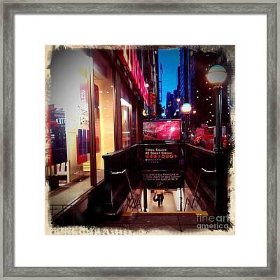 Times Square Station Framed Print by James Aiken