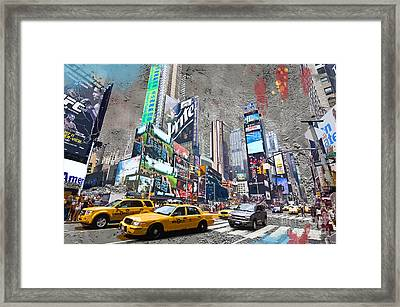 Times Square Street Creation Framed Print