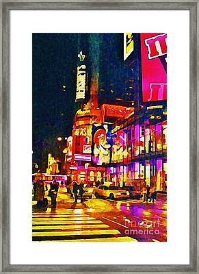 Times Square Two Framed Print