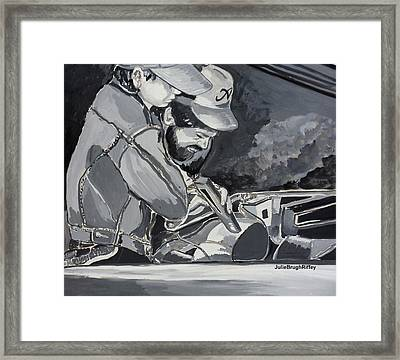 Timing Is Everything - Father Son Art Framed Print by Julie Brugh Riffey