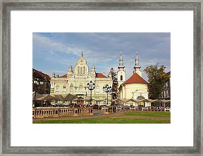 Timisoara Im Banat Romanians, Haeuser Framed Print