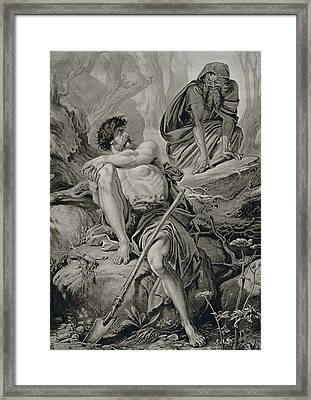 Timon And Apemantus, From Timon Framed Print by English School