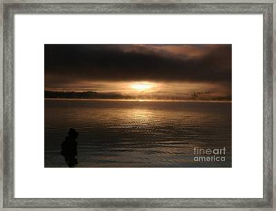 Timothy Lake Mysterious Sunrise 2 Framed Print