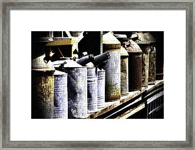 Tin Can Alley - Vintage Look Framed Print