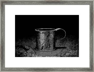 Tin Cup Chalice Framed Print