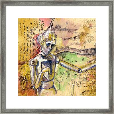 Tin Man - Wizard Of Oz  Framed Print by Chris Bradley