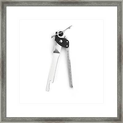 Tin Opener Framed Print by Science Photo Library